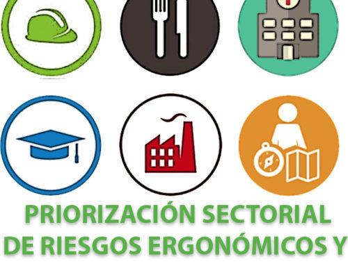 Jornada: priorización sectorial de riesgos ergonómicos