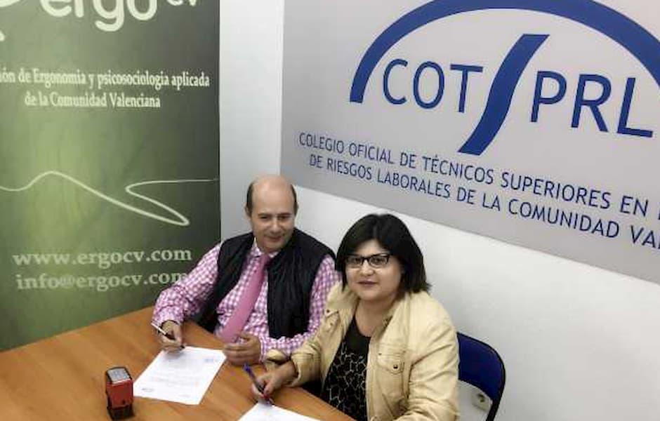 ErgoCV firma convenio con el Colegio Oficial de Técnicos de PRL